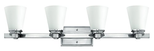 Hinkley Bathroom Lights (Hinkley 5554BN Traditional Four Light Bath from Avon collection in Pwt, Nckl, B/S, Slvr.finish,)