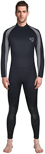 Full Wetsuits Men 3mm Neoprene Suit Surfing Full Body Scuba Diving Suit Adults Kayaking Canoeing Snorkeling On