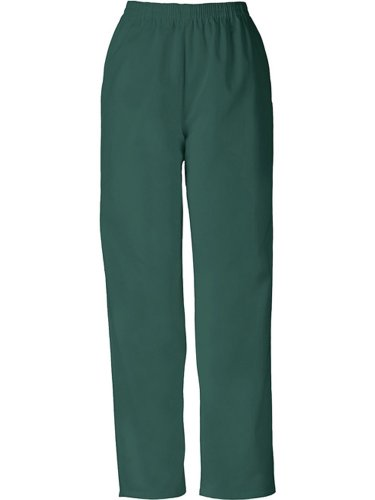 Cherokee Women's Workwear Scrubs Pull-On Pant (SIZE 2X-5X), Hunter, (Green Elastic Waist Uniform Scrub)