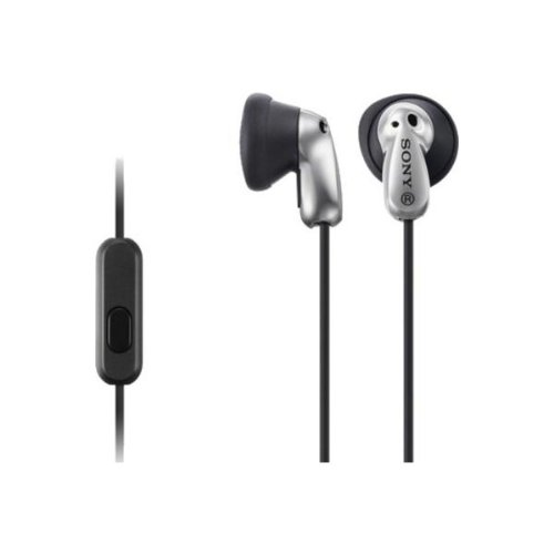 Sony MDR E8AP in Ear Headphones with Mic  Silver
