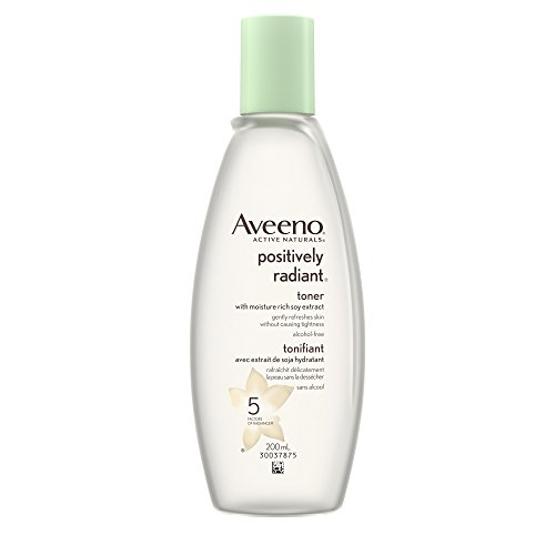 Aveeno Facial Toner, Positively Radiant Toner with Soy Extract for Dark Spots, 200 mL