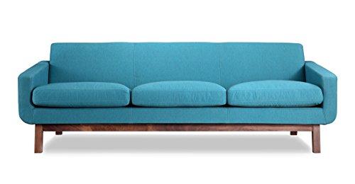 Kardiel Platform Mid-Century Modern Classic Sofa, Urban Surf Vintage Twill