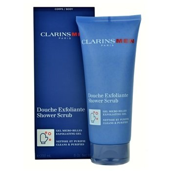 Clarinsmen Shower Scrub Micro-bead Gel, Cleansing and Purifying 200ml / 6.0 Net Wt.