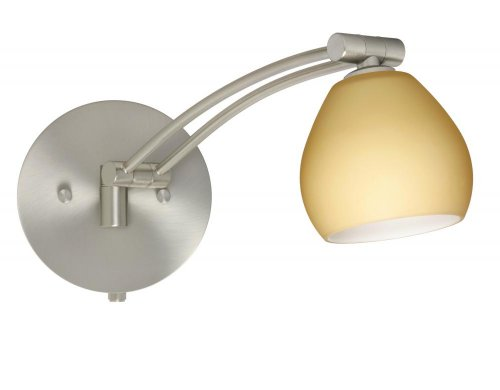 Besa Lighting 1WW-5605VM-SN 1X50W Gy6.35 Tay Tay Wall Sconce with Vanilla Matte Glass, Satin Nickel Finish