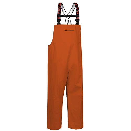 (Grundéns Shoreman Fishing Bib Pants, Orange - X-Large)