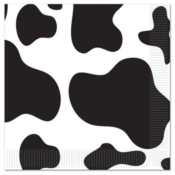 Beistle Cow Print Luncheon Napkins N/A (16 per Package)