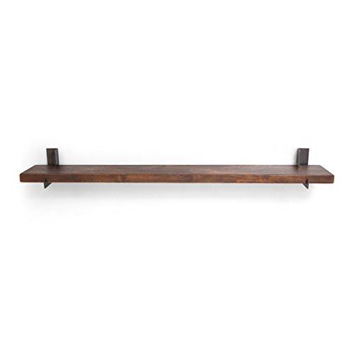 Ironwood Hardware Outlook Adler Wood and Steel Floating Shelf - Adler Steel