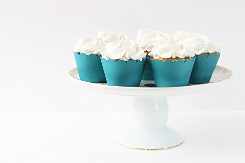 Teal Turquoise Cupcake Wrappers Blue Turquoise Party Supplies