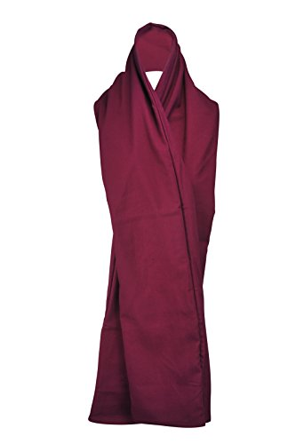 - The RainScarf - Reversible Scarf | Includes Waterproof Hood and 2 Pockets | Soft and Comfortable | Generous Length - Burgundy