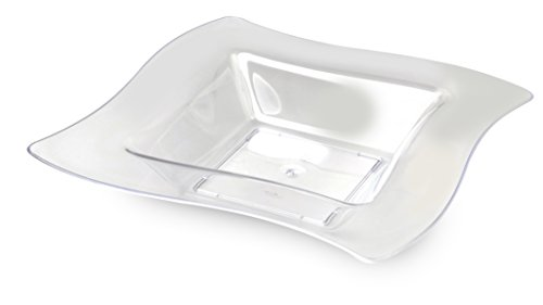 Fineline Wave trends 12 oz Bowl (Case of 120) (10 x 12), Clear by Fine-line