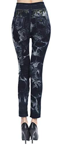 Mallas Ropa Hx Mezclilla Mujer Basic Fashion Vaqueros Para Muster Botones 23 Estampado Moda De Mariposa Bolsillos Ajustadas Con Pantalones wza1z
