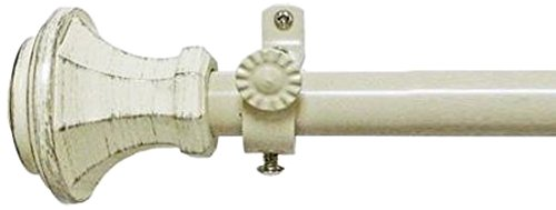 (Achim Home Furnishings Buono II Rod with Carson Finial, 66-Inch Extends to 120-Inch )