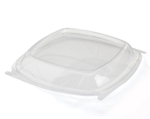 (CaterLine Contours Plastic Square Dome Lid, 9 x 9-Inch, Clear (200-Count) )