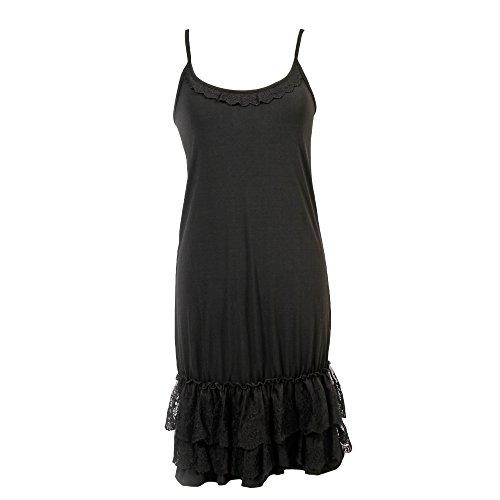 Peekaboo-Chic Classy vs Sassy Strap Slip Dress Extender (Black, XXL) ()