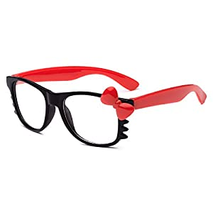 Hello Kitty Kids Baby Toddler Clear Lens Sunglasses Age up to 4 years - Black & Red