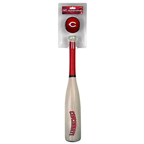 Sports Cincinnati Reds Baseball (MLB Cincinnati Reds Grandslam Bat and Ball, Red)