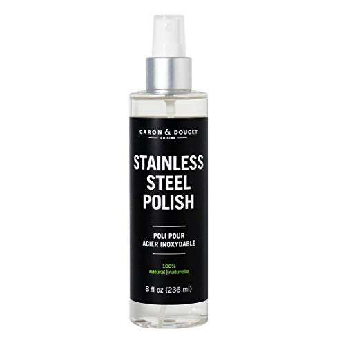 Caron & Doucet - 100% Natural & Plant Based Stainless Steel Polish and Cleaner, Concentrated Formula! Safe Around Pets and Kids (8oz)