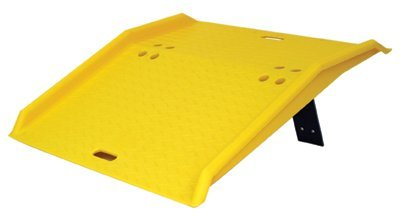 Eagle 1795 High Density Polyethylene Portable Dockplate, Yellow, 750 lbs Load Capacity, 36'' Length, 35'' Width, 5'' Height