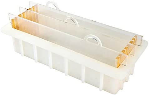 Moule en silicone de savon Nicole avec moule rectangulaire rectangulaire en acrylique transparent pour bricolage /à la main