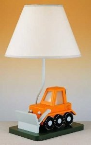Cal Lighting BO-5667 Bull Dozer Childrens Table Lamp by Cal