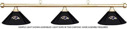 Imperial NFL Baltimore Ravens Black Metal Shade & Brass Bar Billiard Pool Table Light