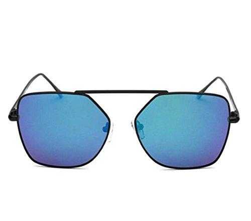c Gafas Marco Metal con Estilo Gafas para Europeo y Mujer Sol b de Americano de polarizadas RDJM de Sol T6wzq
