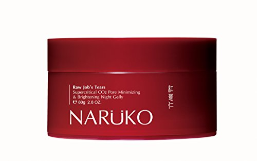 Naruko Raw Job's Tears Supercritical CO2 Pore Minimizing and Brightening Night Gelly Sleeping Mask, 80g(2.8 Ounce extra large)