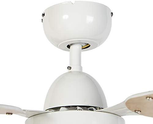 QAZQA Moderno Ventilador de techo blanco con control remoto ...