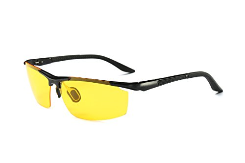 Yellow Lens Night Vision Goggles Sunglasses Driving Riding Sport Glasses UV400 - 4