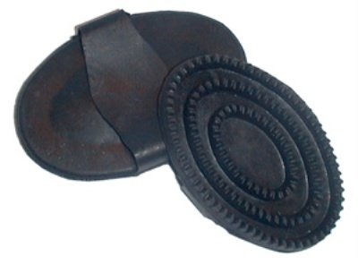 Roma Rubber Curry Comb - Black, Lg
