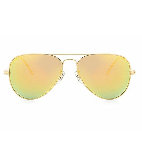 Soleil Lunettes Unisexe Lunettes Lens Mode Couleur Orange De Frame Yellow Lens Film Golden Frame Color Lumineuses Sakuldes Golden Cx0Xwqw