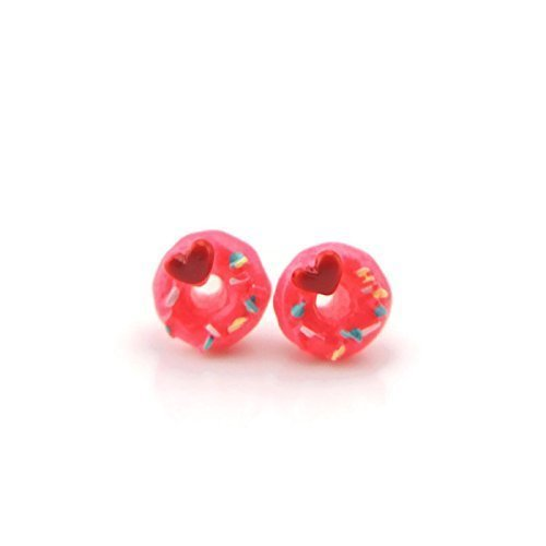 Pink Donut Invisible Clip On Earrings for Non-Pierced Ears