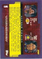 2000 Topps #292 Kobe Bryant//Reggie Miller SC Near Mint//Mint