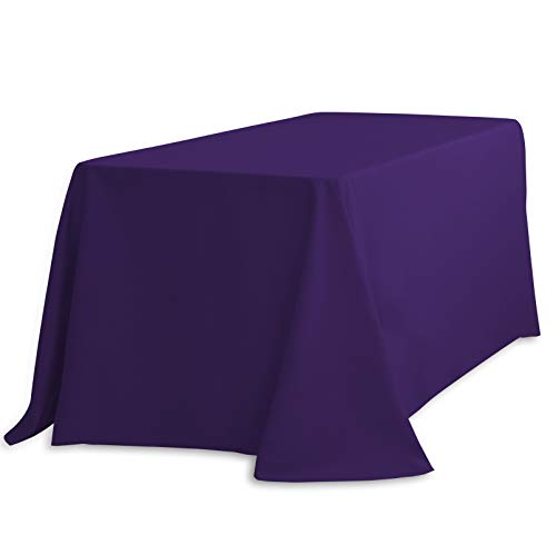 (LinenTablecloth Rectangular Polyester Tablecloth, 90 x 132, Purple)