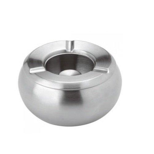 """Luxpresso """"Twister"""" Windascher/Windaschenbecher Edelstahl/Aschenbecher für draußen - ØxH=10,5x6 cm"""