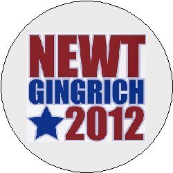(NEWT GINGRICH 2012 Political Pinback Button 1.25