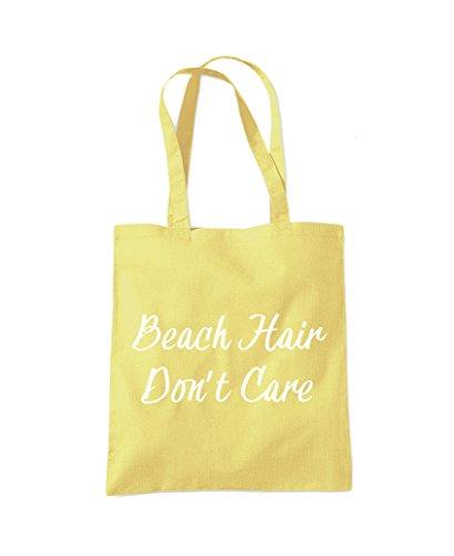 Care Bag Shopper Tote Hair Lemon Yellow Beach Bag Don't Beach Fashion nWUEWB6Y8