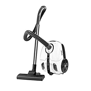 Russell Hobbs 1800 Watt Powerful Suction Bagged Vacuum Cleaner for Home and Car (White)