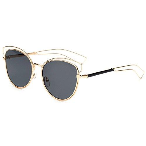 Las colores sol de sol mujer de ahuecadas sol personalizadas gafas metálicos de Gafas gafas películas 6 de Cuatro de Shop para Gafas sol Hcwq1Uwv