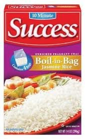 Success Rice, 10 Minute, Boil-In-Bag, Jasmine Rice, 14oz Box (Pack of 4) by Success Rice