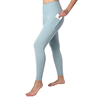 90 Degree By Reflex High Waist Tummy Control Interlink Squat Proof Ankle Length Leggings - Slate - Medium