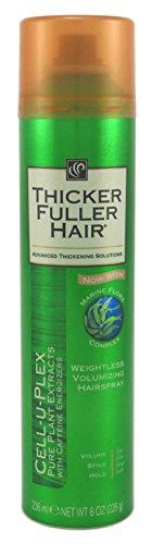 Thicker Fuller Hair Weightless Volumizing Hairspray 8 Ounce Cell-U-Plex (235ml) (3 Pack)