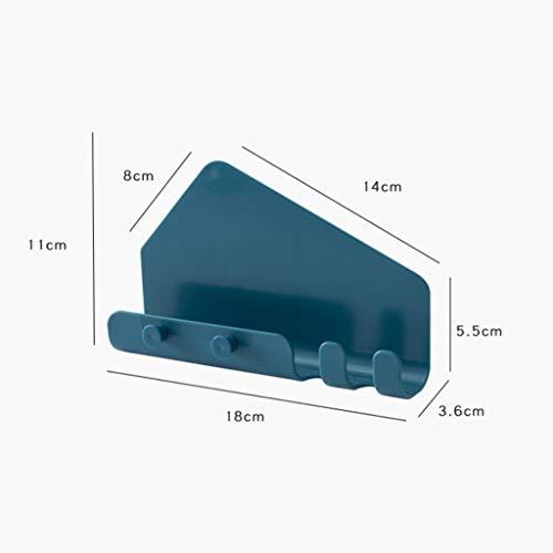 MiMiey Wandhalterung für Smartphone, Kabel, Schlüssel Universal Handyhalter Wand Handy Stand Lade Halter Halterung Regal Kompatibel (Blau)