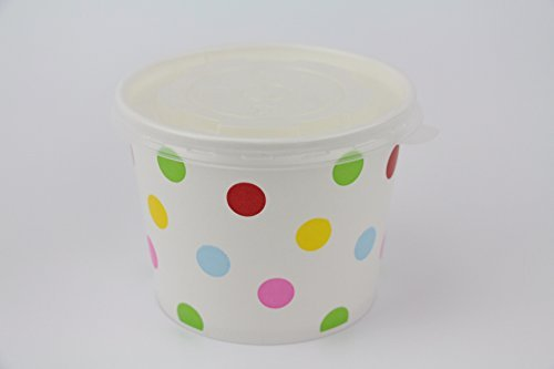 100 Count Deli Containers Durable Food Storage Containers with Lids Hot and Cold Disposable 16oz Containers Use for Frozen Desserts, Soups, or Any Food of Your Choice
