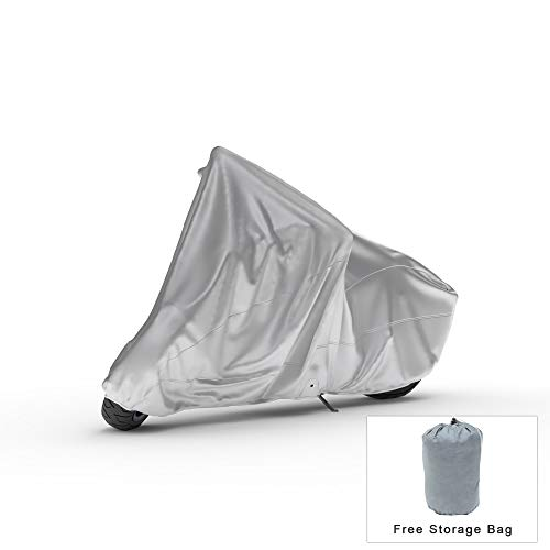 Photo Weatherproof Motorcycle Cover Compatible With 1990 Rokon Ranger - Outdoor & Indoor - Protect From Rain Water, Snow, Sun - Built In Reinforced Securing Straps - Durable Material - Free Storage Bag
