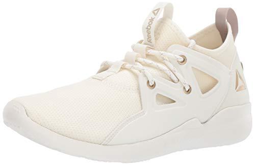 Reebok Women's Cardio Motion Dance Shoe, Chalk/Brass/Light Sand, 8.5 M US