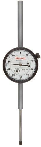 Starrett 25-2041J Dial Indicator, Long Range, 0.375