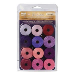 1 X 12 Super-lon #18 Cord Ideal for Stringing Beading Crochet and Micro-macram Jewelry Compatible with Kumihimo Projects S-lon Spring Mix by Super-Lon