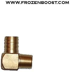 Brass 1//2 NPT Male to 1 Barbed 90 Elbow