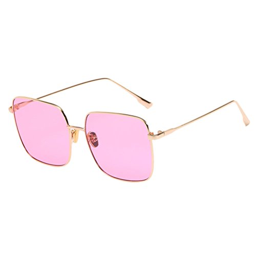 Femme amp; Homme Soleil Gold Metal Protective Safety Retro pour Zhhlaixing UV400 Sunglasses with et Classic de Case lunettes amp;Pink Glasses q7XUnf
